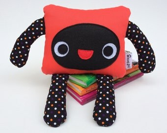 Orange and Black Friendly Felt Monster