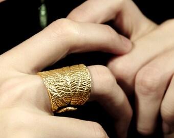 Silver / Gold leaf ring