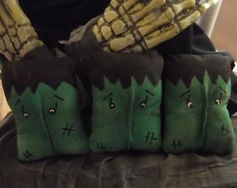 Primitive Halloween Frankenstein/Monster/Bowl Fillers/MADE To ORDER
