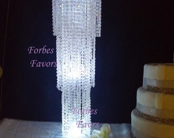 "30"" Exquisite Chandelier Centerpiece With Riser Wedding & Special Occasion Centerpiece"