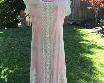 Original 1920's Off White Lace Dress