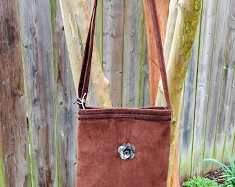 Crossbody Bag- Brown Rose