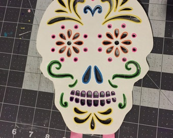 Sugar Skull Bow Holder