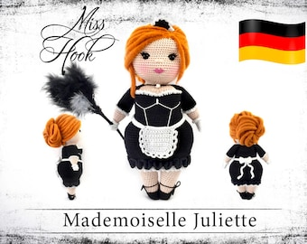 "crochet doll pattern ""Mademoiselle"" eBook PDF (german language)"