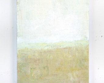 Original Modern Abstract painting minimal white large wall art contemporary fine art by Don Bishop
