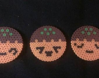 Mel's Sushi Shack kawaii takoyaki coasters - set of 3 expressions