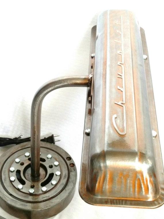 Patina Chevrolet Script Valve Cover Lamp ; Automotive, Industrial ...