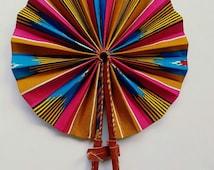 Rainbow Foldable Hand Held Fan