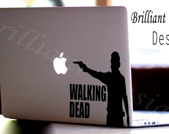 The Walking Dead - Rick,Walking Dead Decal,Mac Decal Vinyl Laptop Decal Macbook Stickers Decal Mac, Zombie,Gift for him & Gift for her