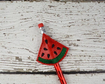 Watermelon Pencil Toppers - Classroom Prizes - Party Favor - Party Supplies - Small Gift - Back to School
