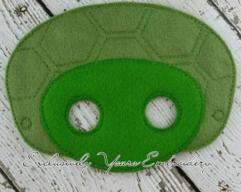 Tortoise Mask Children's Felt Mask  - Costume - Theater - Dress Up - Halloween - Face Mask - Pretend Play - Party Favor