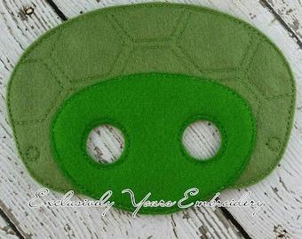 Tortoise Mask Children's Felt Mask  - Costume - Theater - Dress Up - Halloween - Face Mask - Pretend Play - Party Favor