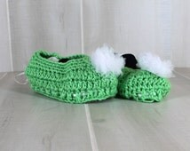 Tinkerbell Costume Crochet Slippers Green Shoe Covers Crochet Shoes