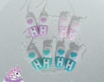 Happy Hospital pills earrings menhera fairy kei yumekawaii