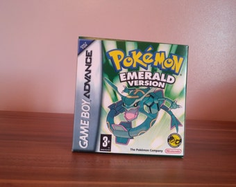Game Boy Advance Pokemon Emerald - Repro Box with Insert NO Game Included
