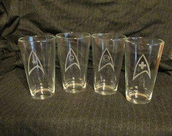 Star Trek Pint Glass Set of 4