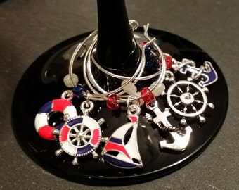 Ship's Ahoy Wine Charms