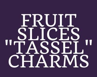 Fruit Slices Tassel Charms