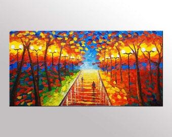 Original Art, Landscape Painting, Large Wall Art, Oil Painting Abstract, Large Abstract Art, Large Abstract Painting, Canvas Art, Large Art