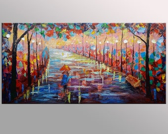 Abstract Landscape Painting, Abstract Canvas Art, Large Oil Painting, Canvas Painting, Large Abstract Art, Oil Painting, Original Canvas Art