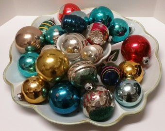 Vintage Glass Christmas Ornaments (#2153)