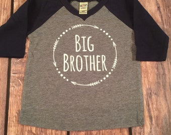 Big Brother Shirt Little Brother Shirt Personalized Shirt Sibling Shirts Sister Shirt Pregnancy Announcement Shirt Baby Announcement Shirt
