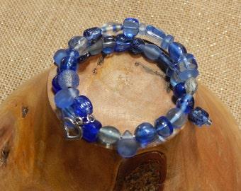 Blue as the Sky Beaded Bracelet