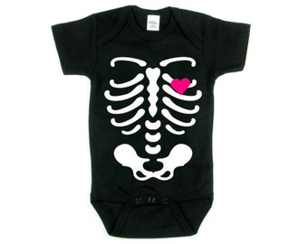 Skeleton Onesie, Baby Halloween Costume, Baby Shower Gift, Baby Costume, Toddler Costume, Funny Halloween Costume, Halloween Onesie, Gift