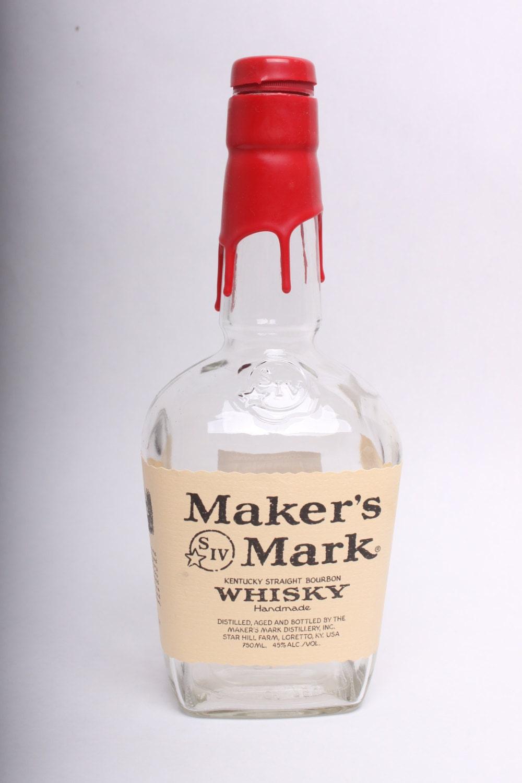 Empty liquor bottle maker 39 s mark handmade whiskey - Uses for empty liquor bottles ...