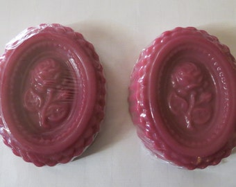 Decorative victorian soap bar with roses 2 pack