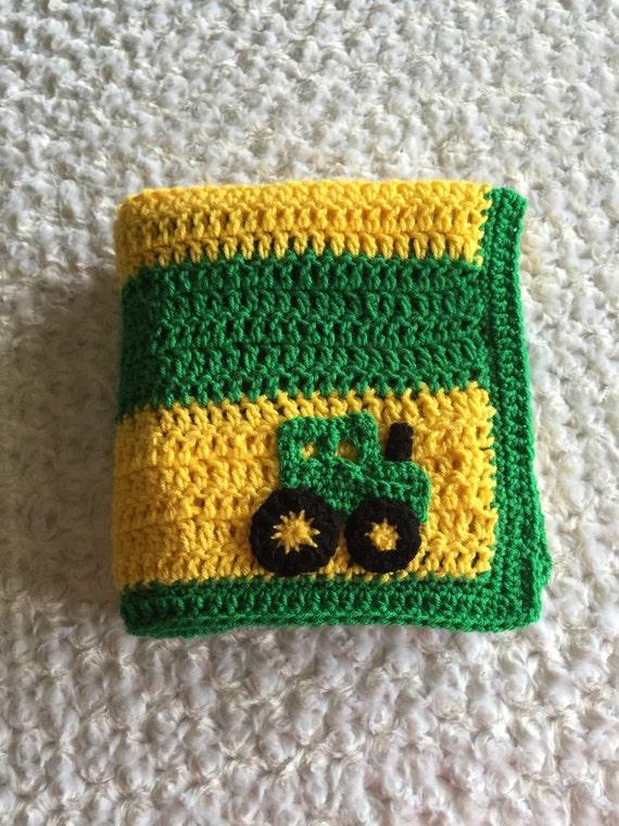 SALE John Deere Inspired Baby Blanket Green & by ...