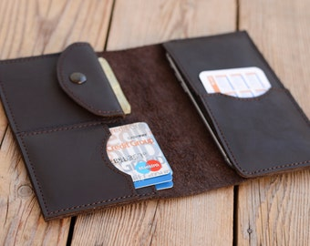 Leather wallet Men's wallet iPhone 6 case Leather iPhone 6s case Leather purse