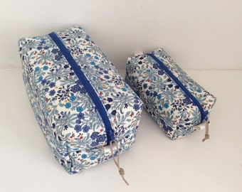 Handmade Liberty style washbag, toiletry bag, travel bag, cosmetics bag, makeup bag, waterproof lining.