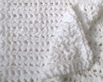 Softest ever handknitted baby blanket