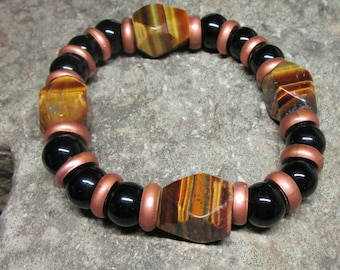 BR-051 simple Bracelet with Tiger eye, free shipping / Free Shipping