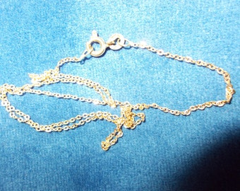 Solid 9K yellow gold chain 15 and 1/2 inches