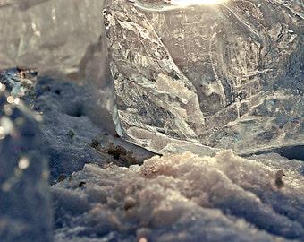 Ice, Lake Erie, Ohio, Bono, Toledo, Snow, Sun, Rainbow, Winter, Christmas, Crystal