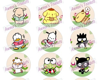 Hello Kitty and Friends 2 inch Cupcake Rounds