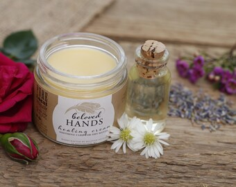 Beloved Hands Cream,  100% Natural Organic Hand Cream, Moisturizing Hand Salve for Dry Skin