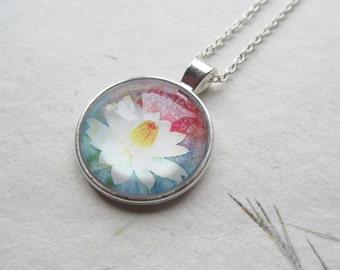 Lotus necklace, yoga necklace, lotus jewelry