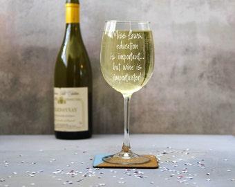 Personalised Teachers Wine Glass