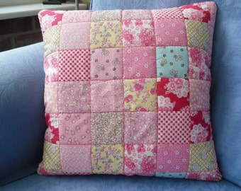 Hand Stitched Quilted Cushion Cover