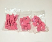 Pink Catan Pieces - Replacement Player Set - Other colors available