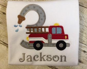 Fire Truck Birthday T-Shirt