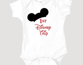 On Sale - 1st Disney Trip onesie or toddler tshirt