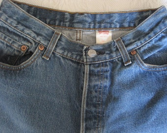 Vintage Ladies Levis 501 Button Fly Jeans -  Original Shrink to Fit  - Ladies/Junior Size {13}  Very Nicely Faded