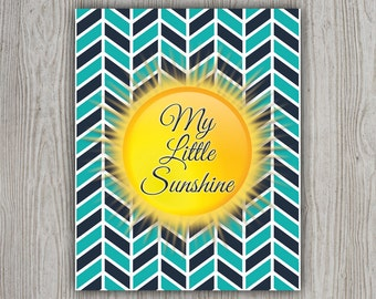 Baby Boy Nursery Wall Art, Boy Nursery Decor, My Little Sunshine Nursery Printable Artwork, Boy Nursery Art, Kids Room Print, Sun Print