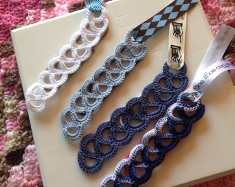 Paperclip Bookmarks with Crochet Design