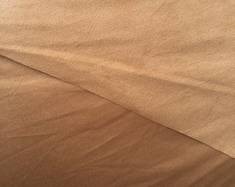 "58"" w Suede-like Camel color Fabric by the yard"