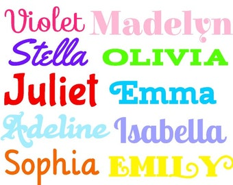 Name Decal | Personalized Name Decal | Any Word Decal | Customized Decal | Name Vinyl Decal | Yeti Name Decal | Children's Name
